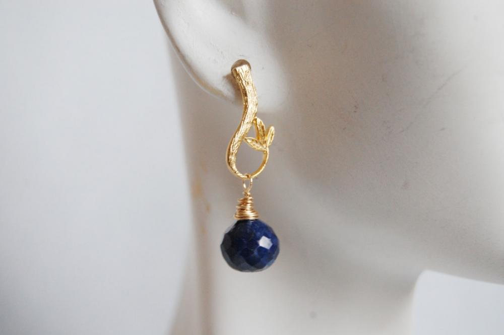 Blue Sapphire Dangle Earrings