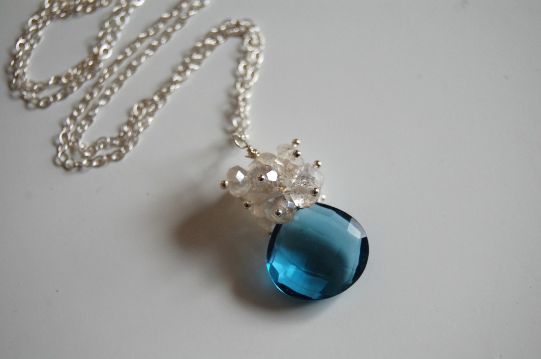 London Blue Quartz And Moonstone Necklace on Luulla